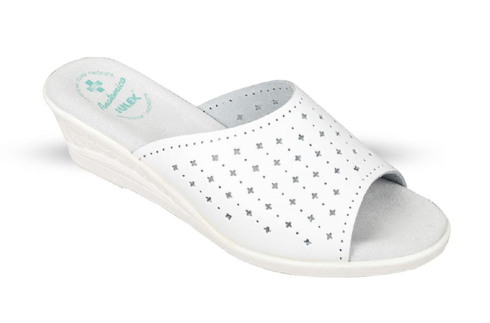 5d292d6e33b34 Klapki Damskie Anatomico MD1 białe - buty zdrowotne, robocze - Julex