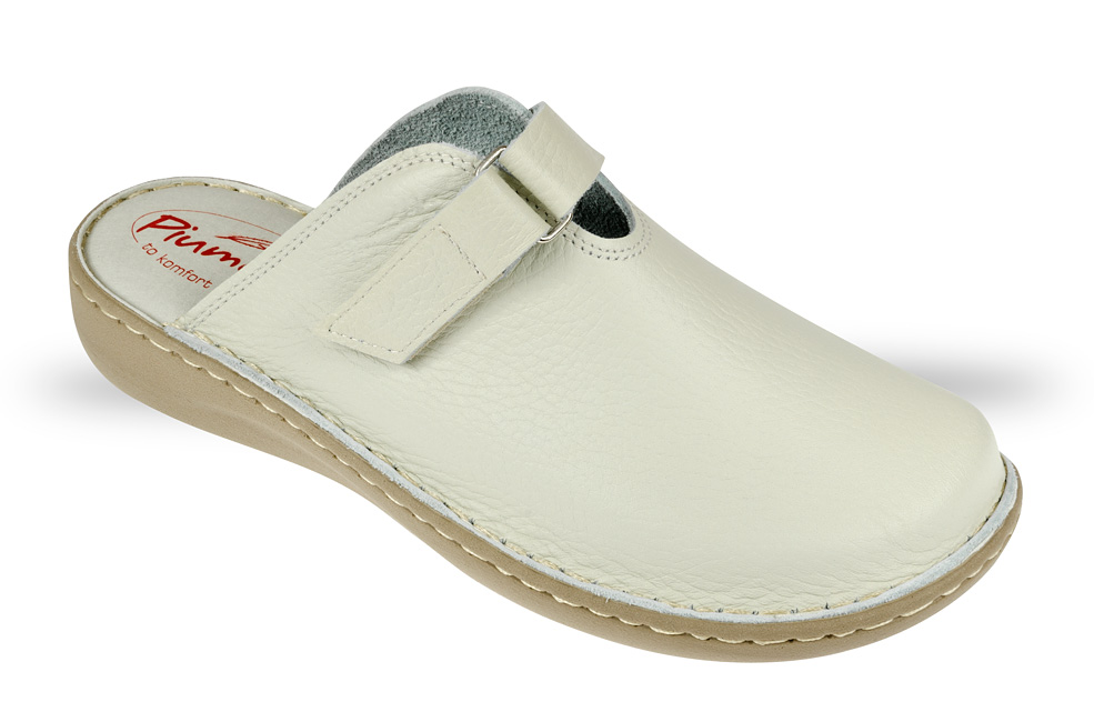 3730f2602d849 Saboty Damskie Piumetta 4435 beżowe - buty zdrowotne, robocze - Julex