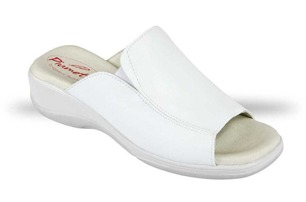 cf0b6687d03ab Klapki Damskie Piumetta 3176 białe - buty zdrowotne, robocze - Julex