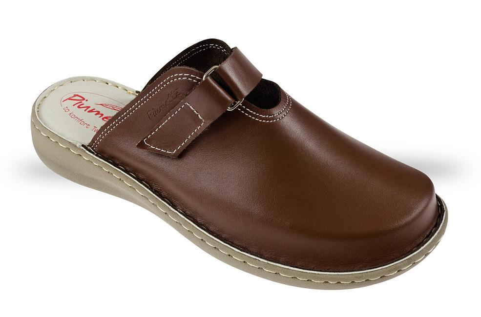 463ddd51881f9 Saboty Damskie Piumetta 4435 brązowe - buty zdrowotne, robocze - Julex